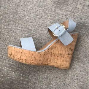 Light Blue Wedged Heels